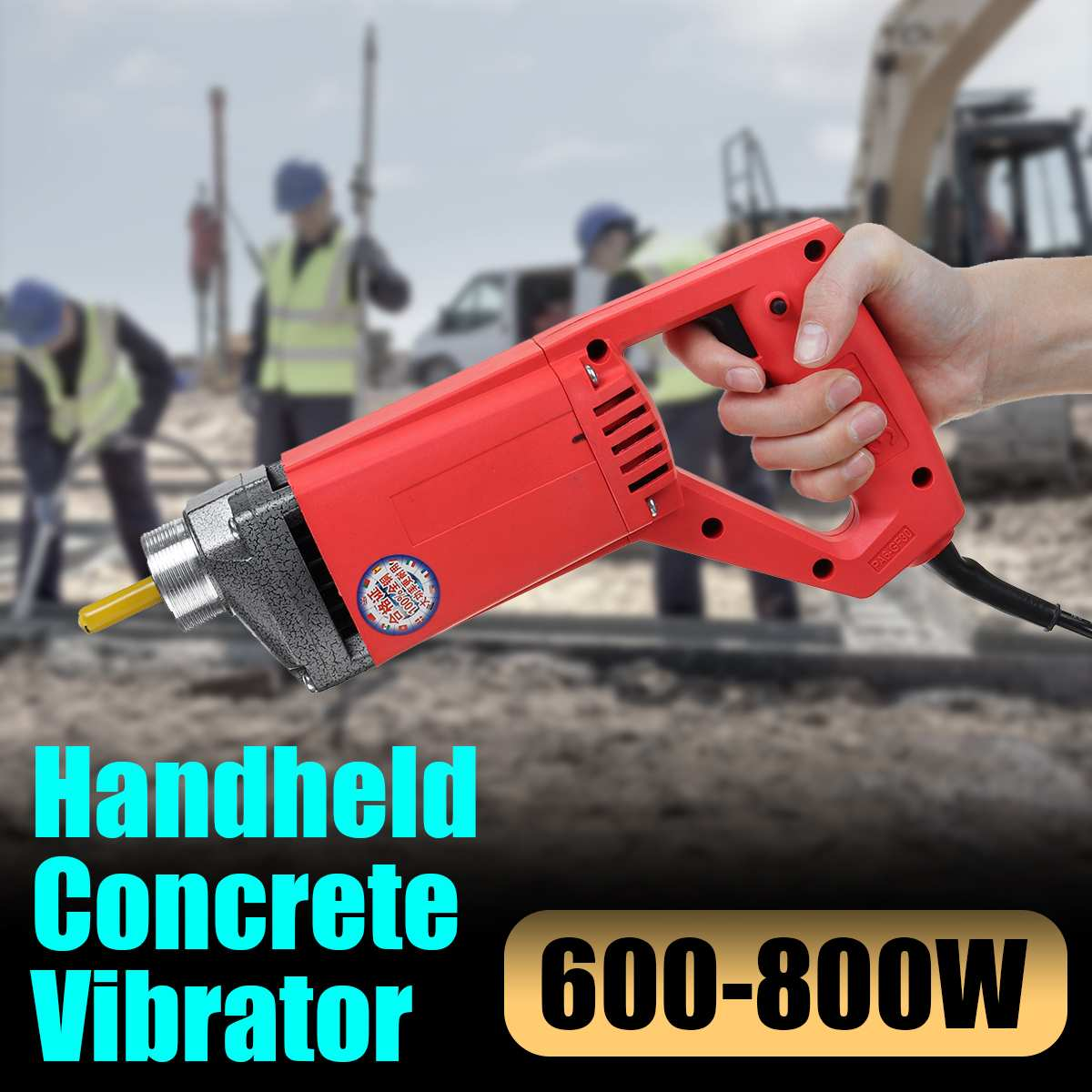 600-800W Handheld Electrical Concrete Vibrator With Motor Construction Tools Power Tool Fit For 1m/1.5m Vibrator BC-35-1