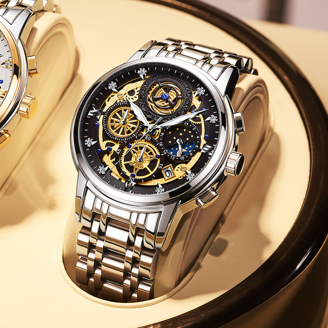 WISHDOIT 2020 New Fashion Men Watch  Calendar Stainless Steel Top Brand Luxury Sports Chronograph Quartz Watch Relogio Masculino 1