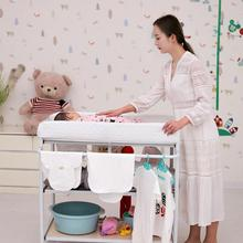 Newborn Baby's White Multi-kinetic Multifunction Movable Diaper Changing Table Bedroom Table Family Shelf For Baby Care HWC