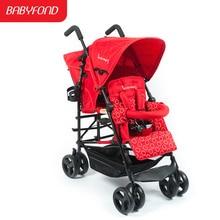 Детская коляска Kinderwagon для близнецов, детская коляска с двойным зонтиком, автомобильный светильник, Легко складывающаяся коляска для близнецов