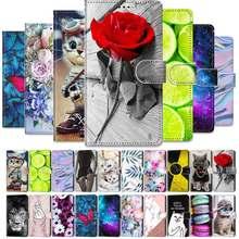 Coque de téléphone en cuir PU, étui peint Style livre pour Samsung Galaxy A6 A7 A8 A9 2018 A3 A5 2016 2017