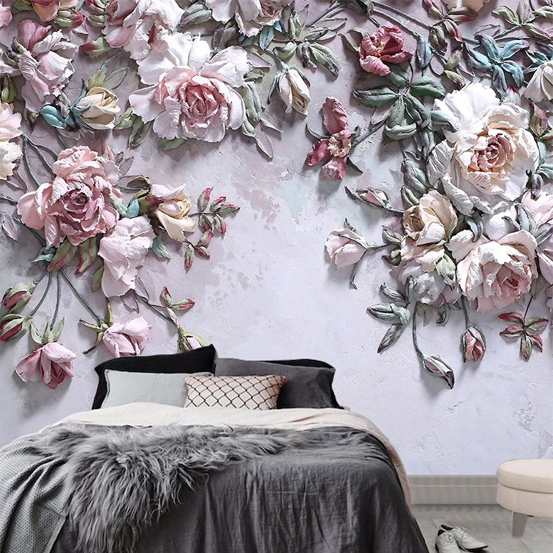 3D Wallpaper Modern Stereo Rose Flowers Photo Wall Murals Living Room TV Sofa Bedroom Home Decor Wall Paper For Walls 3 D Fresco