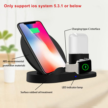 3 in 1 Fast Wireless Charger Dock Station Fast Charging For Apple iWatch 2 3 4 For Airpods For iPhone 11 Pro 10 XS Max XR X 8 3 in 1 magnetic phone charger for iphone x s max xr 8 7 wireless charger for apple watch 2 3 4 airpods charging dock station