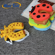 3Pcs/Lot Child Safety Protection Baby Safety Cute Animal Security Card Door Stopper Baby Newborn Care Child Lock Protection kids baby eva safety safeguard gates door stopper cartoon doorways protection tool baby hand clamping preventionsafety door card
