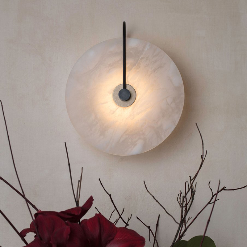 Zerouno Led Novelty Light For Bedroom Living Room Porch Hotel Loft Wall Decor Light Unique Marble Lampshade Led Chip Wandlamp