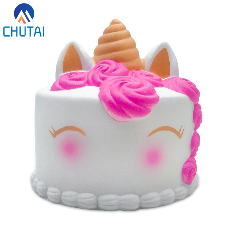 Jumbo Kawaii Rose Unicorn Cake Squishy Simulated PU Bread Cream Scented Slow Rising Squeeze Toy For Baby Kids Gift 10*10*10 CM