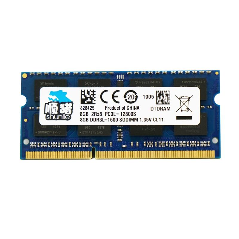 Hynix Chip DDR3 8GB 4GB 2GB 4G 8G PC3 PC3L 2Rx8 1066MHz 1333MHz 1600MHz 10600 12800 Laptop 1.5V 1.35V Memory SODIMM Ram