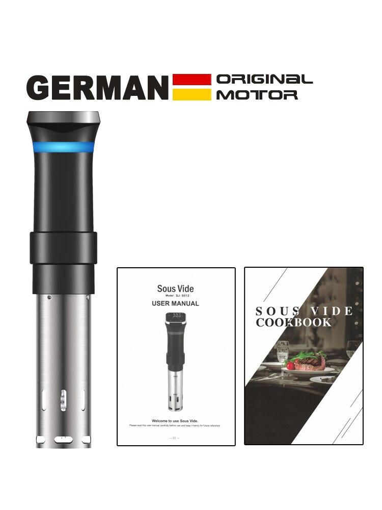 Новый В 2021 году под вид, немецкая энергосберегающая технология 10%. 1100 Вт Водонепроницаемая вакуумная машина для приготовления пищи под вакуумом