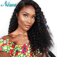 Newa Hair Curly Lace Front Wig Pre Plucked With Baby Hair 13x6 Lace Front Human Hair Wigs Brazilian Remy Hair Fake Scalp Wigs