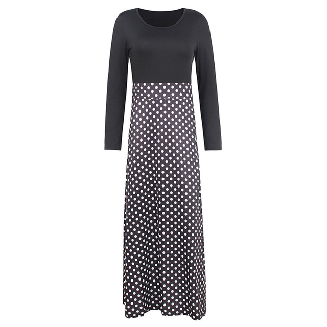 Spring Women Maxi Dress Vintage Floral Print Splice Casual Long Sleeve Dress 5XL Plus Size Elegant Ladies Long Dresses Vestidos 5