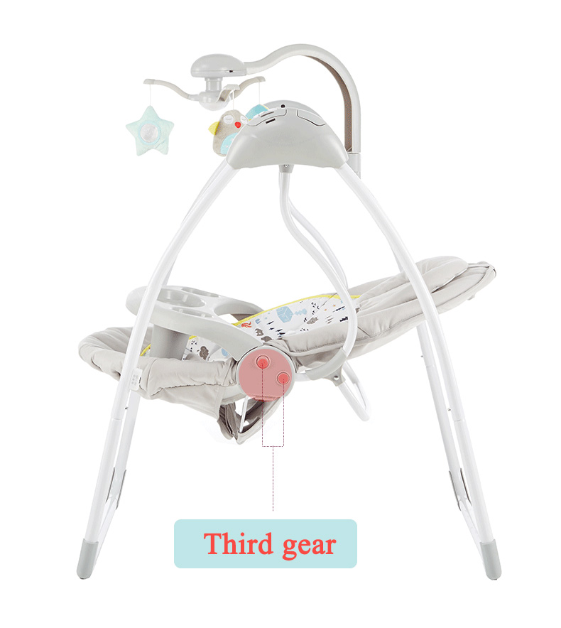 H9bbf7cf35eb94791b9653617456e0ff92 Babyinner Baby Rocking Chair Baby Bassinet Newborn Electric Cradle Foldable Baby Chair Multifunctional Swing Baby Sleeping Bed