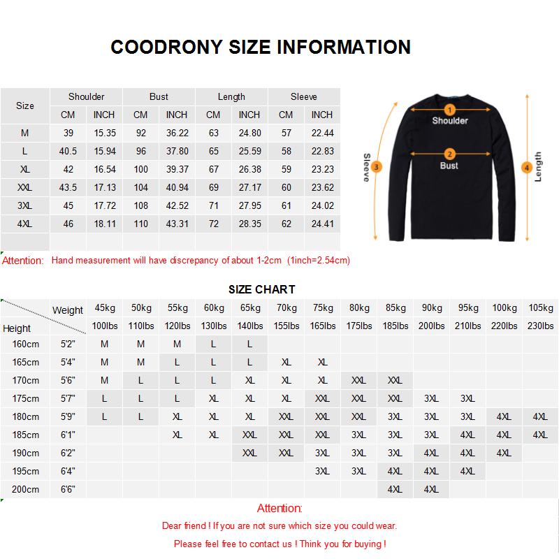 Coodrony 브랜드 스웨터 남성 캐주얼 스트라이프 v 넥 풀 옴므 가을 겨울 코튼 풀오버 남성 저지 hombre 니트 셔츠 c1007