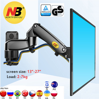 "NB F150 2-7kg 100x100 soporte monitor wall mount screen aluminum good gas spring air press 13""-27"" TV wall bracket holder 1"