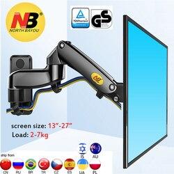 Nb f150 2-7kg 100x100 soporte monitor parede montagem tela de alumínio boa mola de gás ar imprensa 13