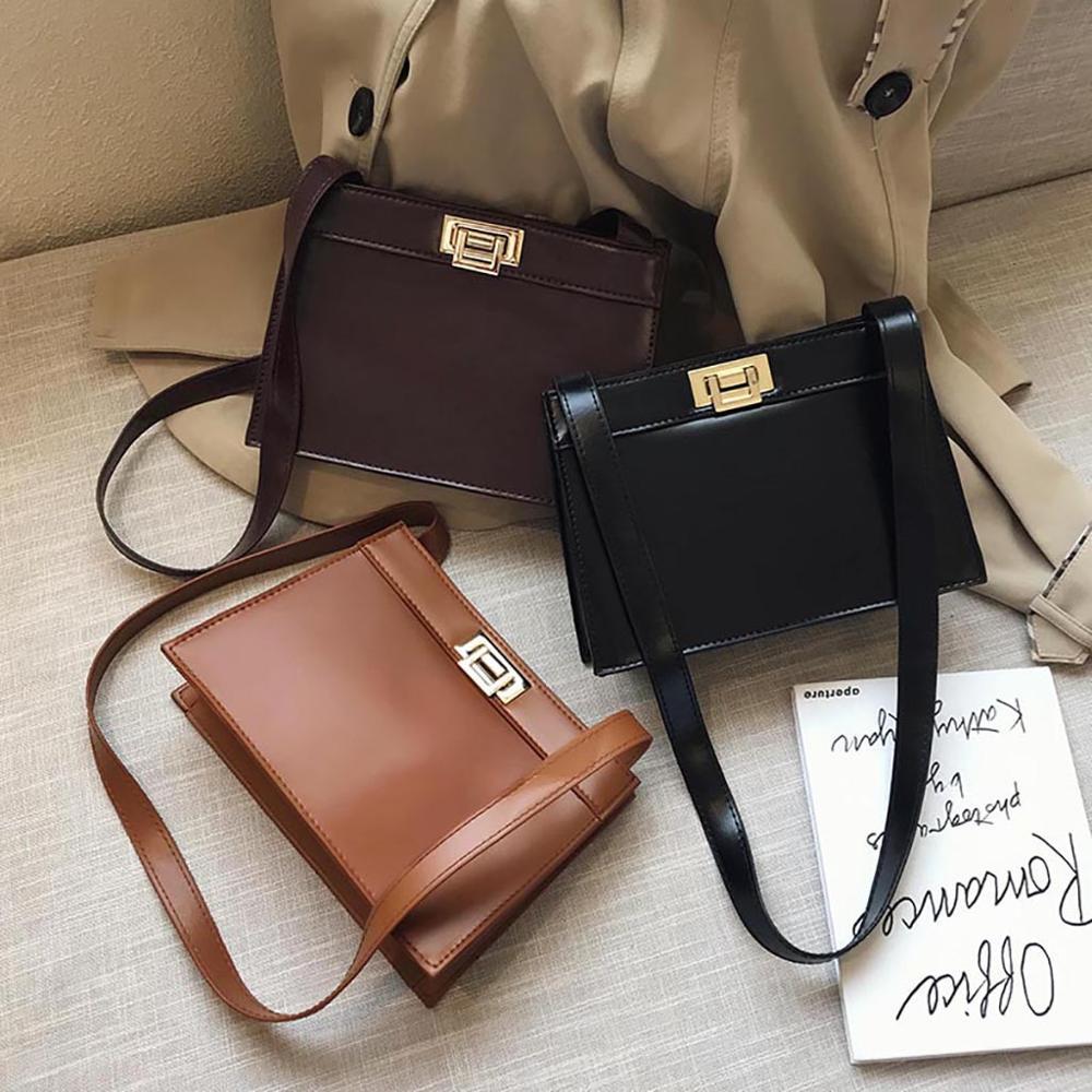 Fashion Simple Leather Handbags Shoulder Bag Messenger Bag Handbag