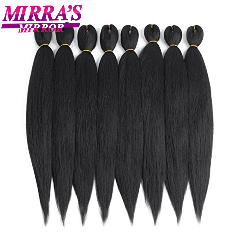 Ombre Pre Stretched Braiding Hair Extensions Jumbo Braids Hair Synthetic Crochet Hair Low Temperature Fiber Mirra's Mirror