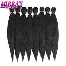 Ombre מראש נמתח תוספות שיער קולעת ג מבו צמות שיער סינטטי סרוגה שיער נמוך טמפרטורת סיבי Mirra של מראה
