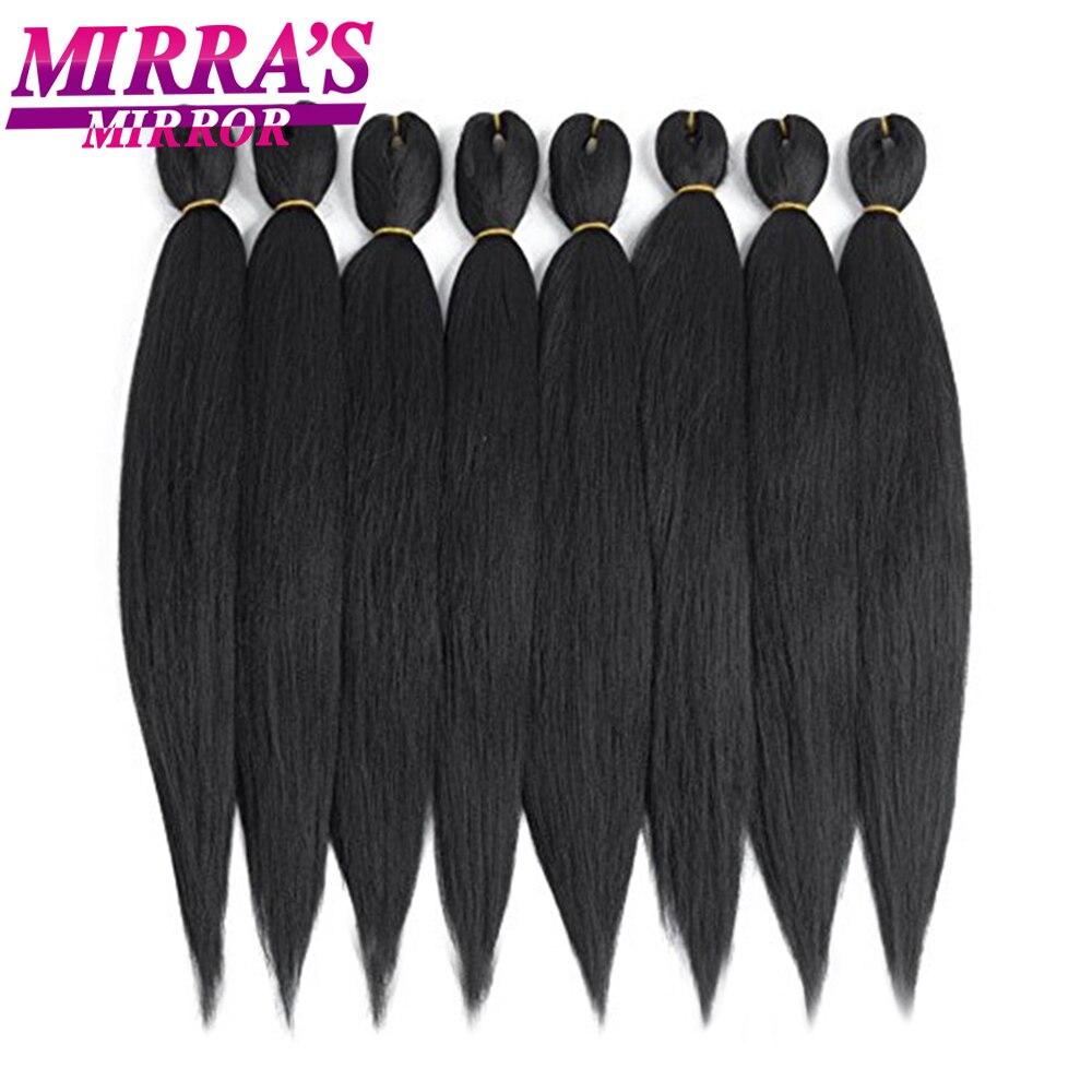 Предварительно растянутые волосы для плетения, синтетические волосы для наращивания, для плетения косичек, легкая оплетка Джамбо, низкотем...