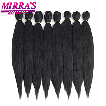 Pre Stretched Braiding Hair Synthetic Crochet Hair Extensions For Afro Easy Jumbo Braiding Hair Hot Water Setting Mirra's Mirror