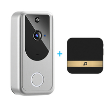 Wireless Smart WiFi Video Doorbell HD Camera Visual Intercom Night Vision Door Bell Wireless Security Camera for Apartments