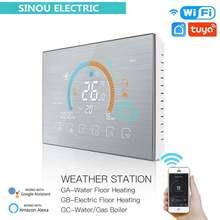 Программируемый термостат с wi fi терморегулятор метеостанция