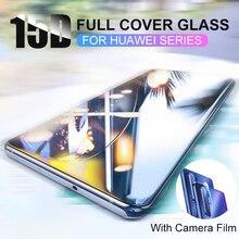 15D Voll Curved Schutz Glas Für Huawei P30 P20 Lite Pro 9h Gehärtetem Glas Display schutz Auf P20 P30 lite Mate 20 Lite 20X