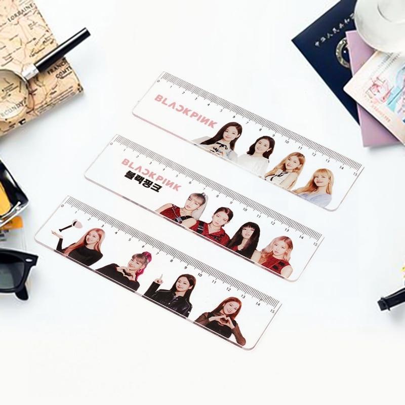 NEW 1 Pcs Kawaii Hot Sale Kpop Surrounding Convenient Straight Acrylic Ruler Stationery Rulers School Supplies