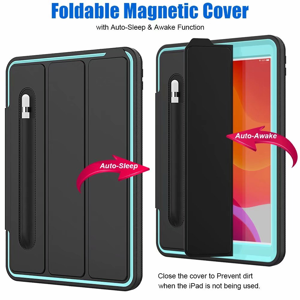 generation For Kickstand For Shockproof case 2019 iPad ipad smart Case 7th Armor 10.2
