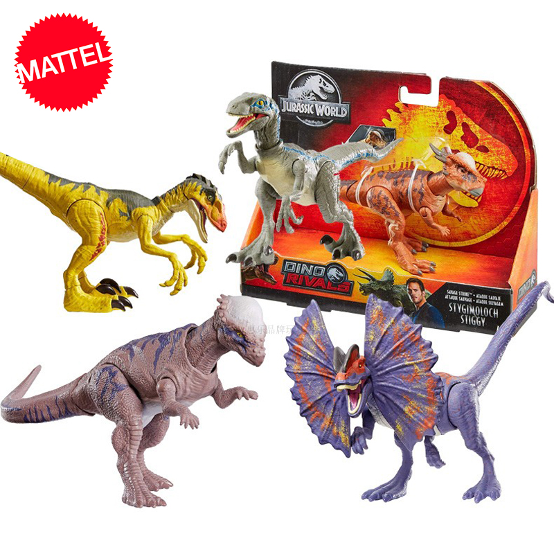 Original Jurassic World Basic Competitive Dinosaurs Raptor Dipterosaur Stygosaurus Giant Dragon Action Figure Toys For Children