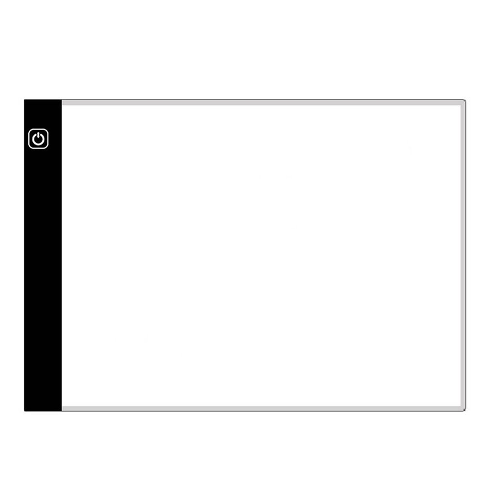 Lightweight A4 Size Ultra-Thin Portable Tracer 7500K White Led Artcraft Tracing Pad Light Box 3 Leve
