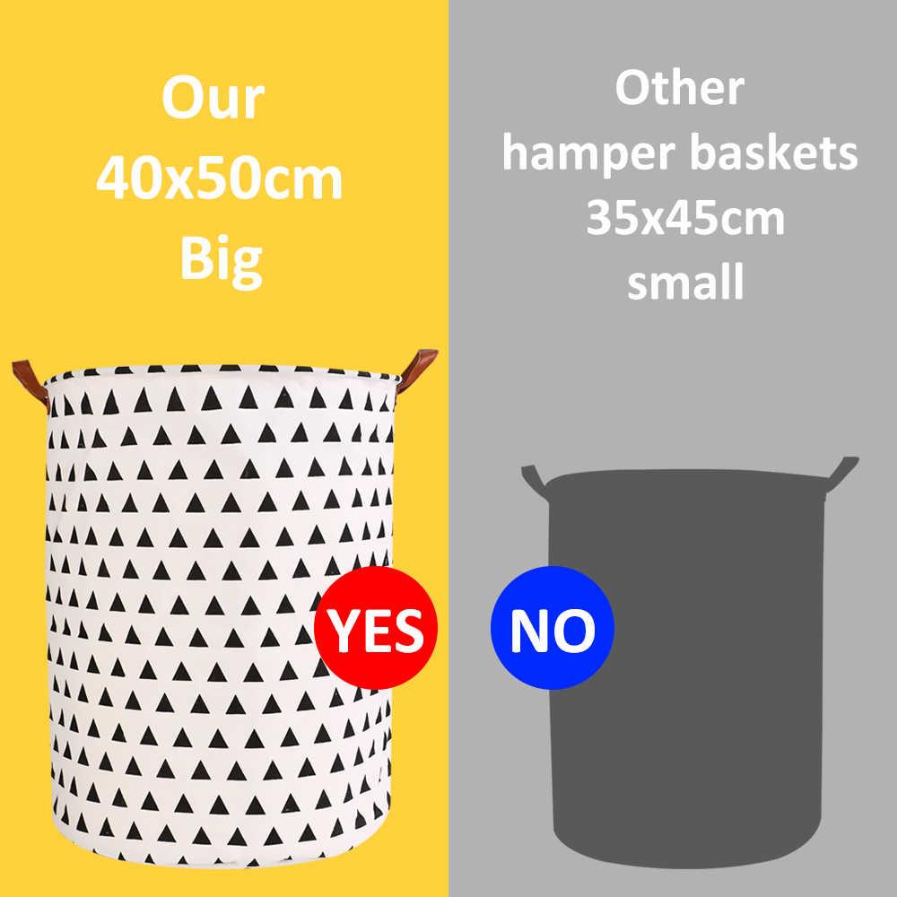 سلة الغسيل القابلة للطي صندوق تخزين مستديرة حقيبة كبيرة تعرقل الملابس للطي لعبة سلة دلو منظم سعة كبيرة