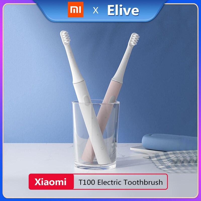 Brosse à dents électrique sonique dorigine XIAOMI MIJIA T100 MES603 adulte IPX7 étanche USB Rechargeable 2 vitesses blanchissant soins bucco-dentaires