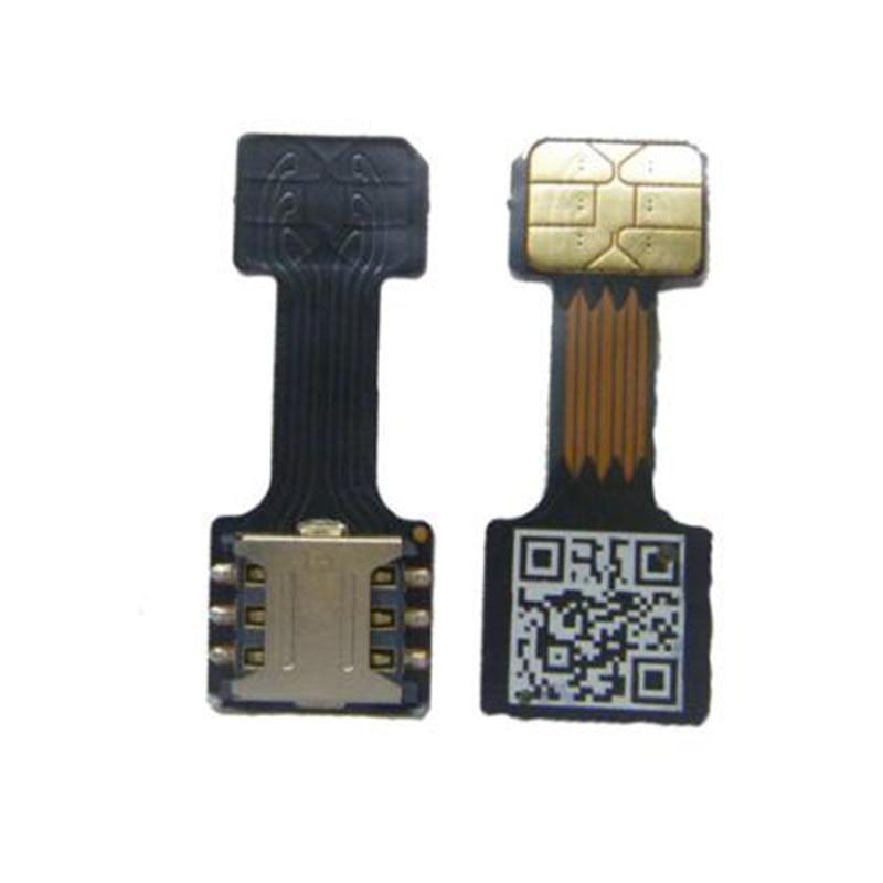1Pcs Black Dual SIM SIM Adapter for Android TWO 2 Nano SIM NANO-SD Memory Card Converter For XIAOMI REDMI NOTE 3 4 3s PRO(China)