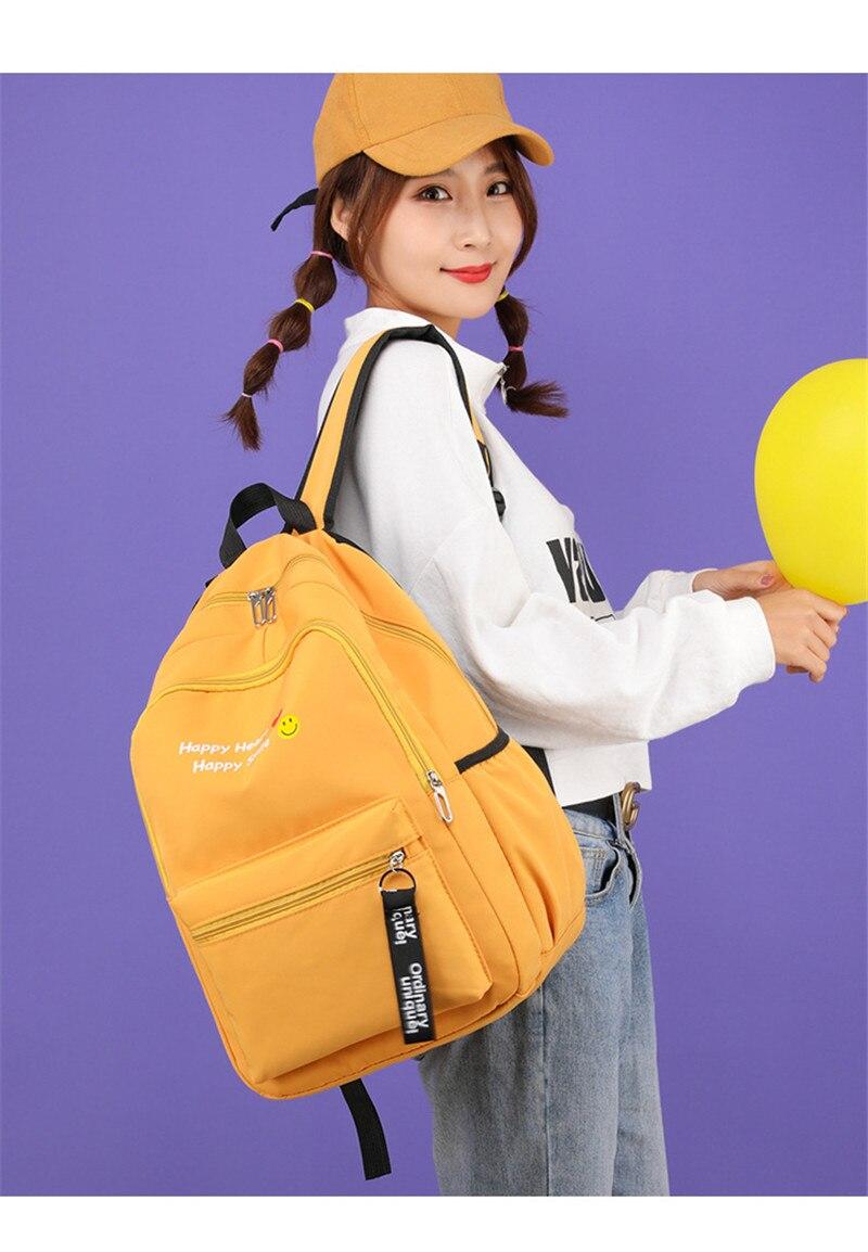 meninas adolescentes mulheres mochila saco de livro