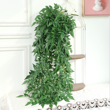 Artificial Silk Green Plant Wall Hanging simulation Rattan Weeping Willow Home Hotel Decoration Fake flower arrangement artificial silk fern class fake flower plants garden home decoration bonsai floral arrangement simulation green plant