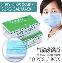5pcs-10 pcs Face Disposable Masks 3 Layers Dustproof Mask Facial Protective Cover Masks Set Anti-Dust Bacteria Proof Flu Mask(China)