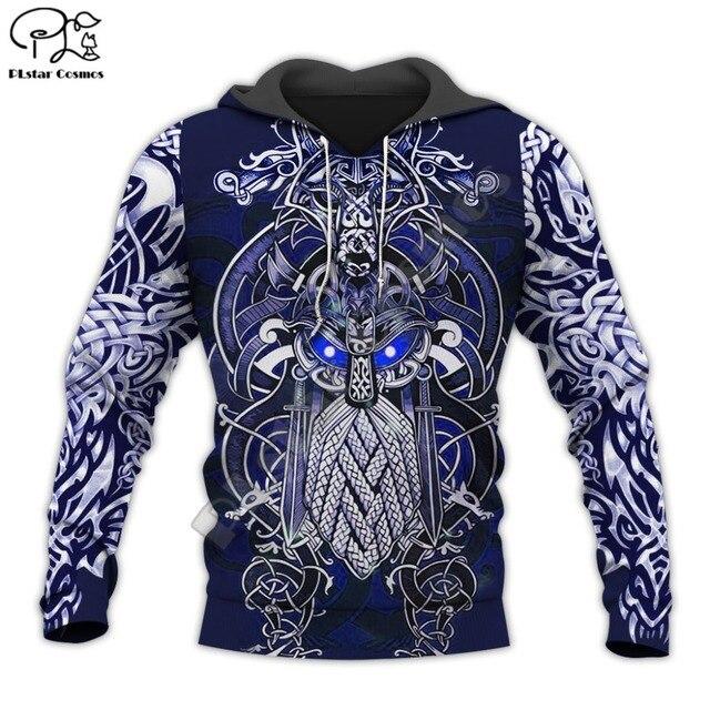 Viking Warrior Tattoo 3D Full Print Hoodie/Sweatshirt/Jacket 11