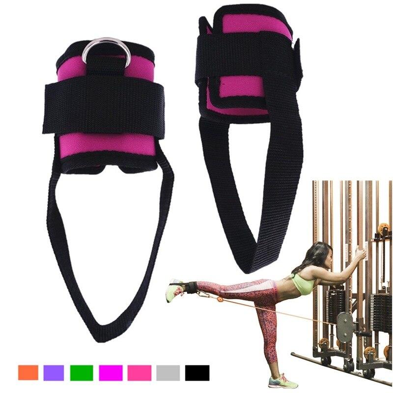 1 par de fitness exercício resistência banda tornozelo cintas manguito para máquinas de cabo ab perna glute treinamento ginásio em casa equipamentos de fitness