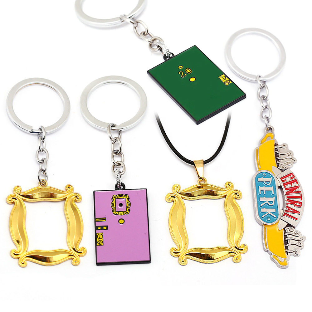 10PCS/Lot American TV Show Friends Keychain Central Perk Coffee Time Pendant Key Chains For Best friend Car Keyring llavero Gift image