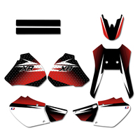 Motorcycle Graphics Background Decals Stickers Kit for Honda XR250 XR400 1996 1997 1998 1999 2000 2001 2002 2003 2004 XR 250 400