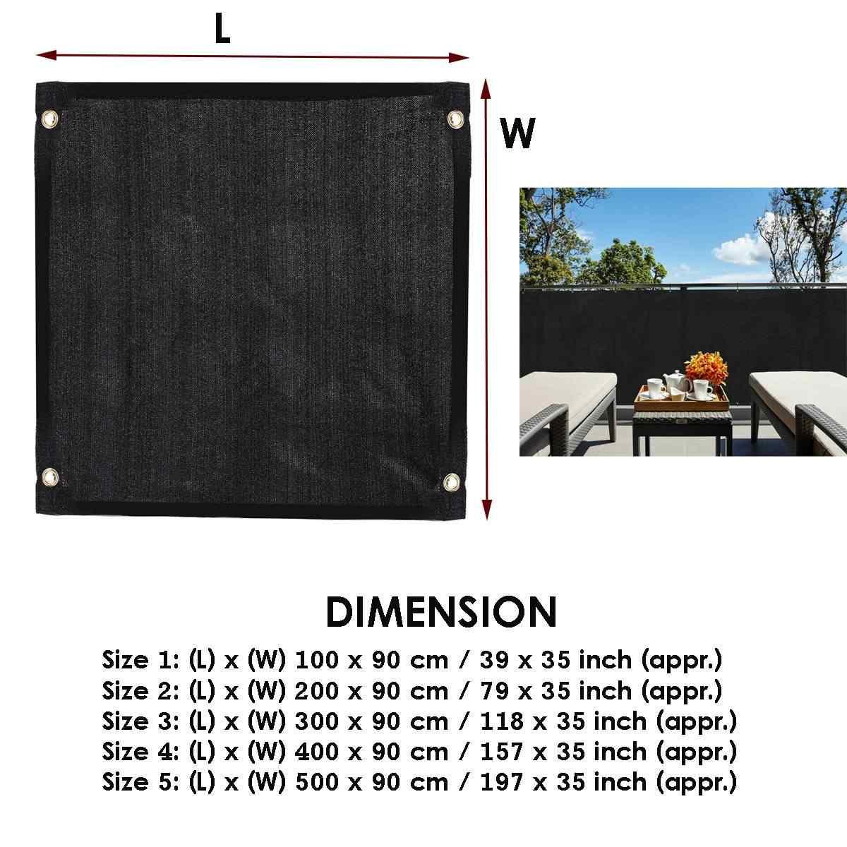 Ekran zasłaniający na Balkon płot ogrodowy pokrywa Balkon Scherm Breeze View Deck Shade Yard markiza płot-Cover Shade