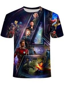 Men's Tops Film Marvel t-Shirt Avengers Iron Man Printed New-Product Captain-America