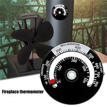 Магнитный термометр для печи с подогревом для дровяного бревна, горелка для камина, вентилятор, термометр с большим дисплеем