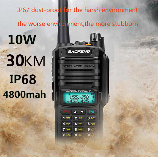 IP68 2020 Upgrade Uv9r Baofeng UV-9R Plus 50Km Walkie Talkie 10W Hf Twee Manier Radio Vhf Uhf Ham radio Lange Afstand Cb Radio Station