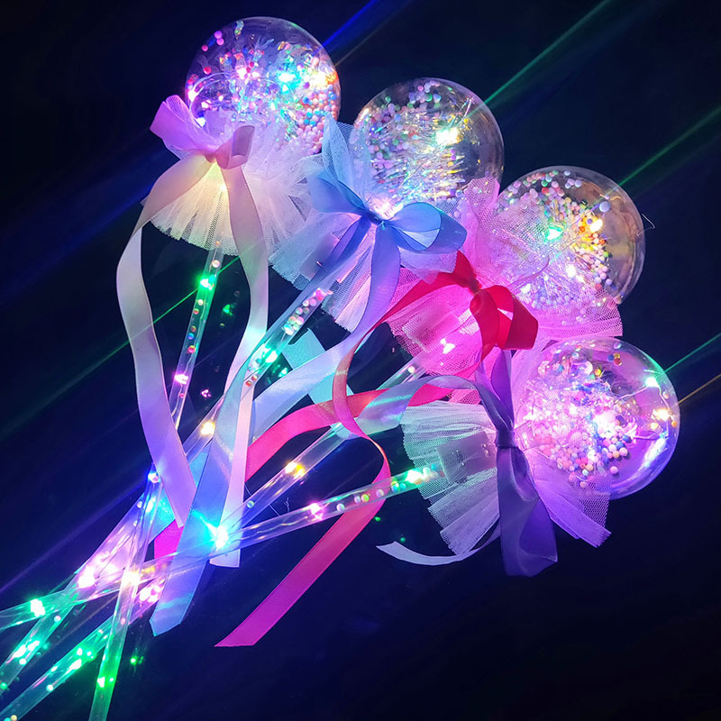 LED Flash Wave Ball Magic Bar Christmas Children Lightning Toys Concert Dream Atmosphere Kpop Light Rod Fairy Gift