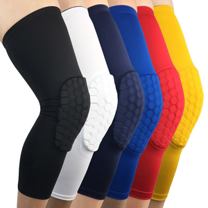 Basketball Elbow Protective Knee Pads Knee Brace Support Honeycomb Breathable Knee Pad Crashproof Antislip Leg Long Sleeve Gear