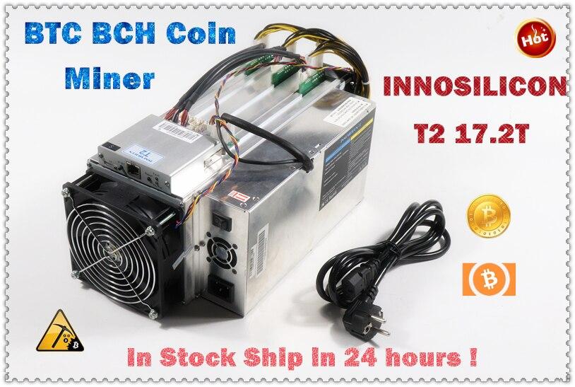 INNOSILICON T2 17.2TH/s z zasilaczem Asic BTC BCH Bitcion Miner lepiej niż Whatsminer M3X M20S Antminer S9 T17 S17 S17e S17 +