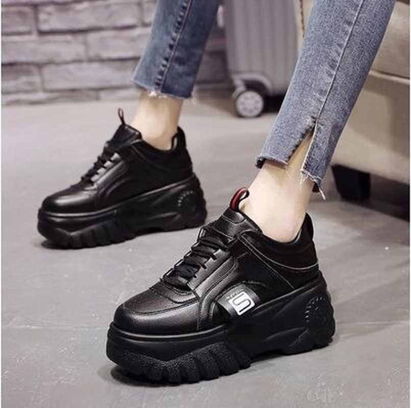 LZJ Cao Chất Lượng Giảng Viên Nữ của Nền Tảng Giày Nữ Giày Nữ Thoáng Khí cho Chạy Bộ Nữ Chun Giày Plus Size 35-39