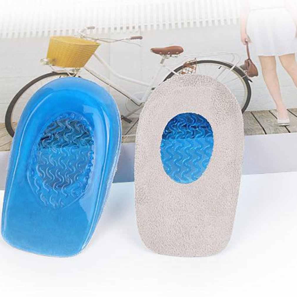 SEBS plantillas medias Unisex Cuidado del pie almohadilla del talón alivio del dolor absorción de golpes almohadilla del talón antideslizante