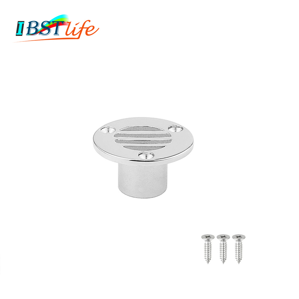 Compact Boat Floor Deck Drain Marine Grade Stainless Steel 316 For Boat Yacht Deck Drainage Hardware Replacement Accessories